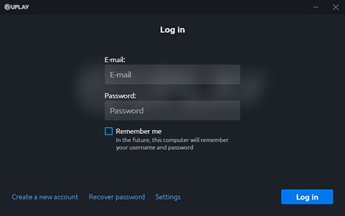 Uplay Login Prompt